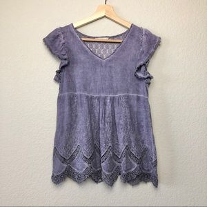 Altar'd State Babydoll Style Short Sleeve
